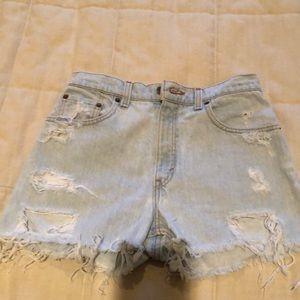 Levi Vintage Light Wash Jean Shorts